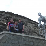 The gang at the Col du Tourmalet summit.
