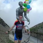 Col du Tourmalet summit Octave Lapize memorial.