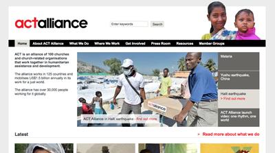 Act Alliance website
