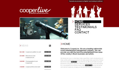 CooperLive - HTML/CSS/jQuery and a bespoke news CMS (PHP)