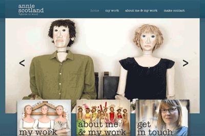 Annie Scotland (sculptor in wood) web site portfolio.